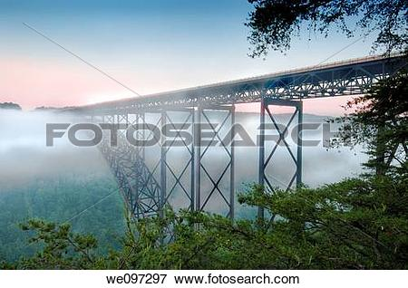 Picture of Beautiful view of the New River Gorge Bridge in West.