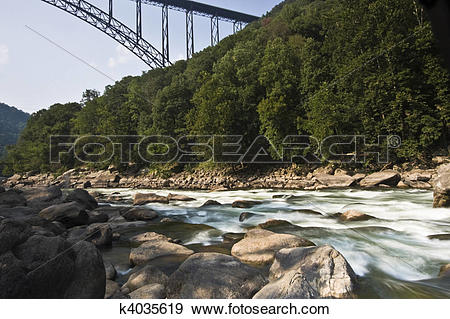 Stock Photograph of New River Gorge k4035619.