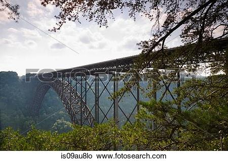 Stock Photo of New River Gorge Bridge, Fayetteville, West Virginia.