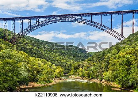 Stock Images of New River Gorge Bridge k22119906.