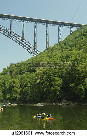 Stock Photography of Fayetteville, WV, West Virginia, New River.