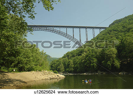 Stock Photo of Fayetteville, WV, West Virginia, New River Gorge.