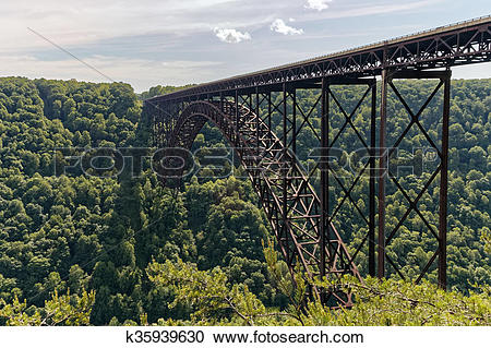 Stock Photography of The New River Gorge Bridge k35939630.