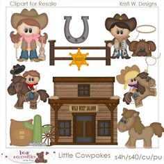This Cowboy Up clipart set comes with 8 cowboy graphics.
