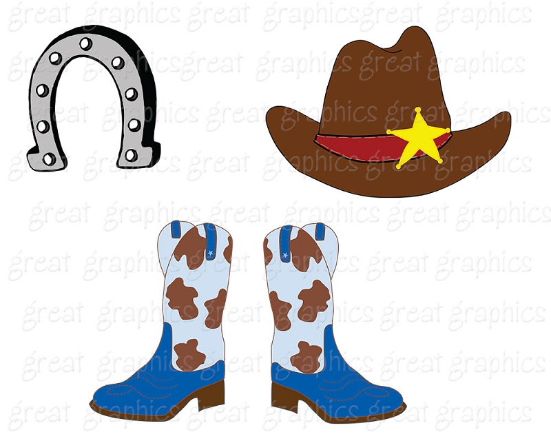 Clip Art Cowboy craft projects, School Clipart.