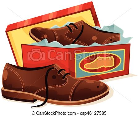 Male shoes and shoebox.