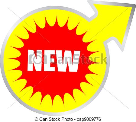 Clip Art Vector of Vector new sign isolated on white csp9009776.