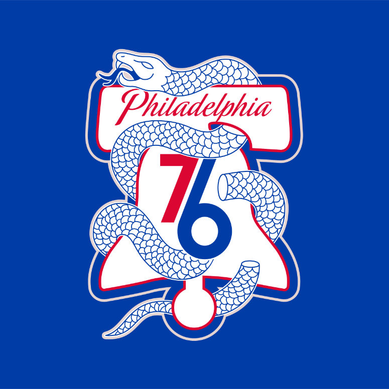 Sixers Unveil New \'Snake\' Playoff Logo.