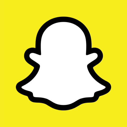 2019, ghost, logo, new, snap, snapchat, square icon.