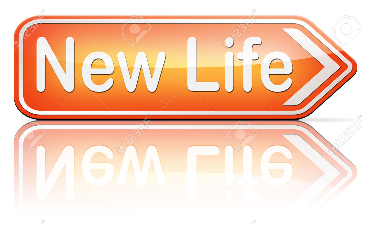 New Life Road To Fresh Begin New Start Sign Stock Photo, Picture.