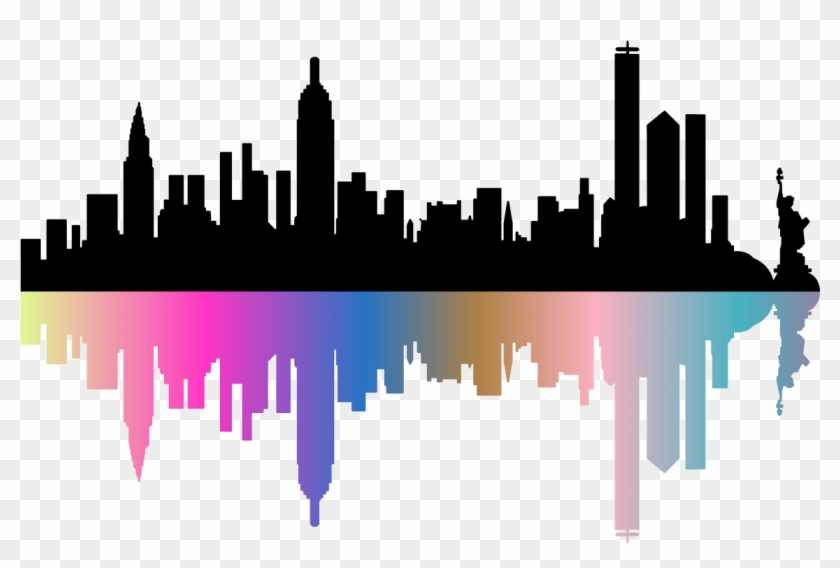 Sticker Skyline De Newyork Design Ambiance Sticker.