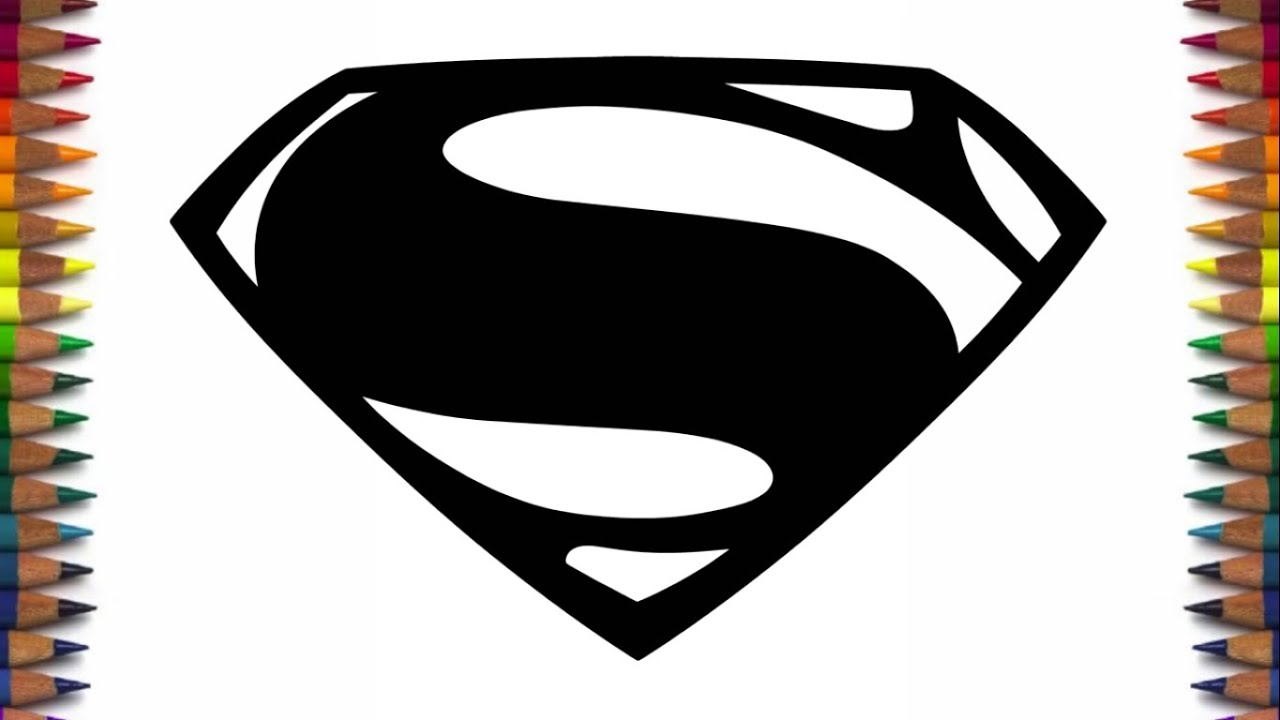 How to draw new Batman and Superman logos from Batman v Superman Dawn of  Justice.