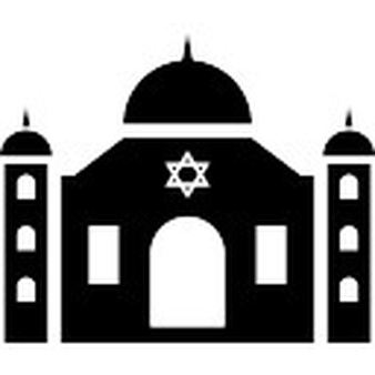 Synagogue front view Icons.