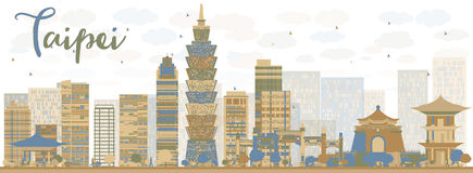 Taipei Skyline Stock Illustrations.