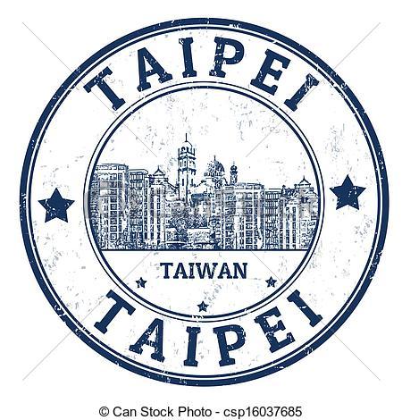 Vector of Taipei stamp.