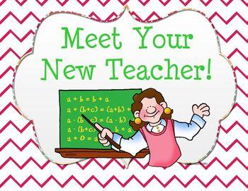 Meet Your New Teacher SMARTboard Lesson.
