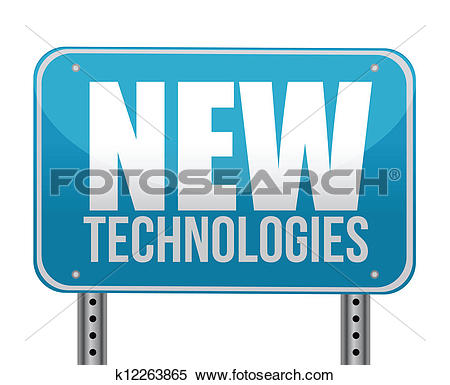 Clipart of sign with a new technologies concept k12263865.
