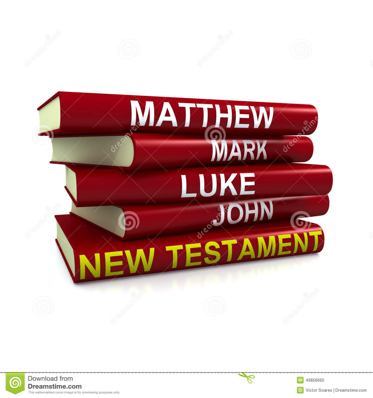 The New Testament Books Stock Illustration.