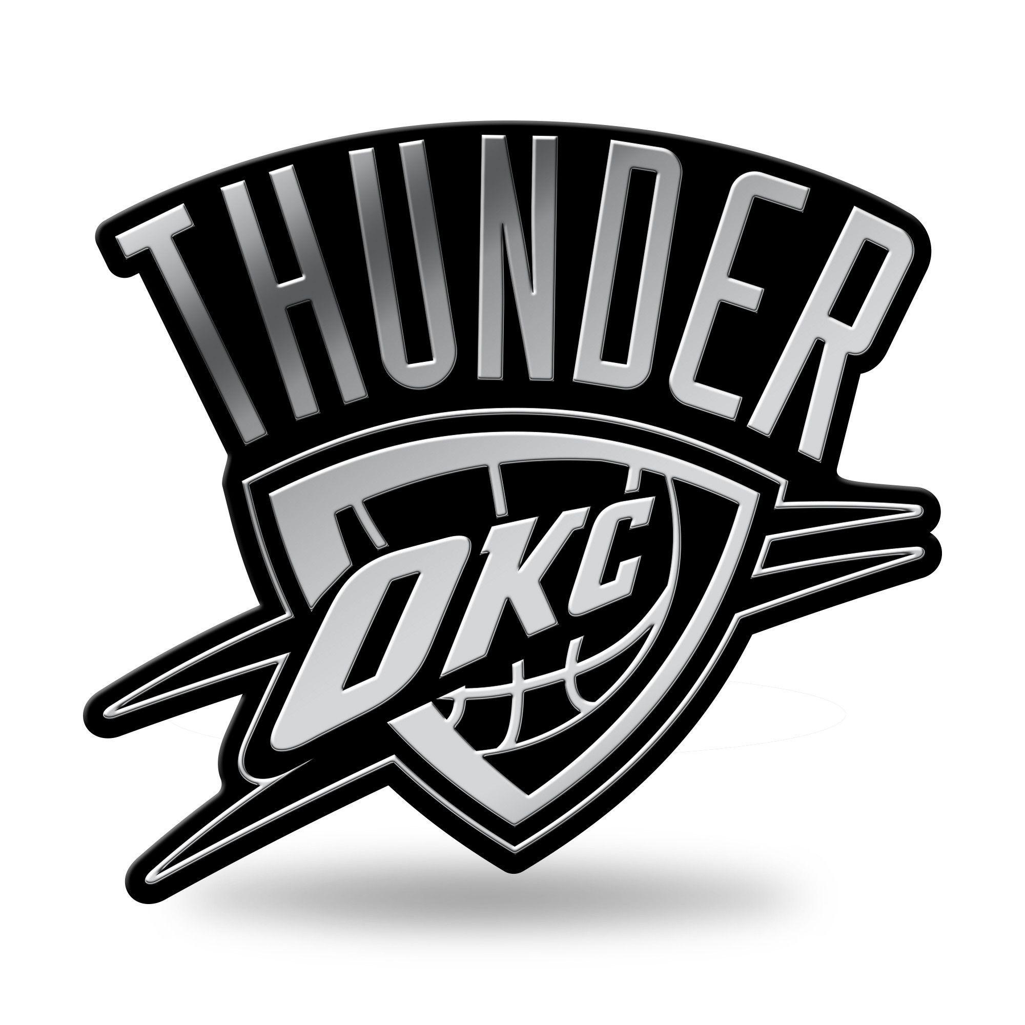 Oklahoma City Thunder Logo 3D Chrome Auto Emblem NEW!! Truck.