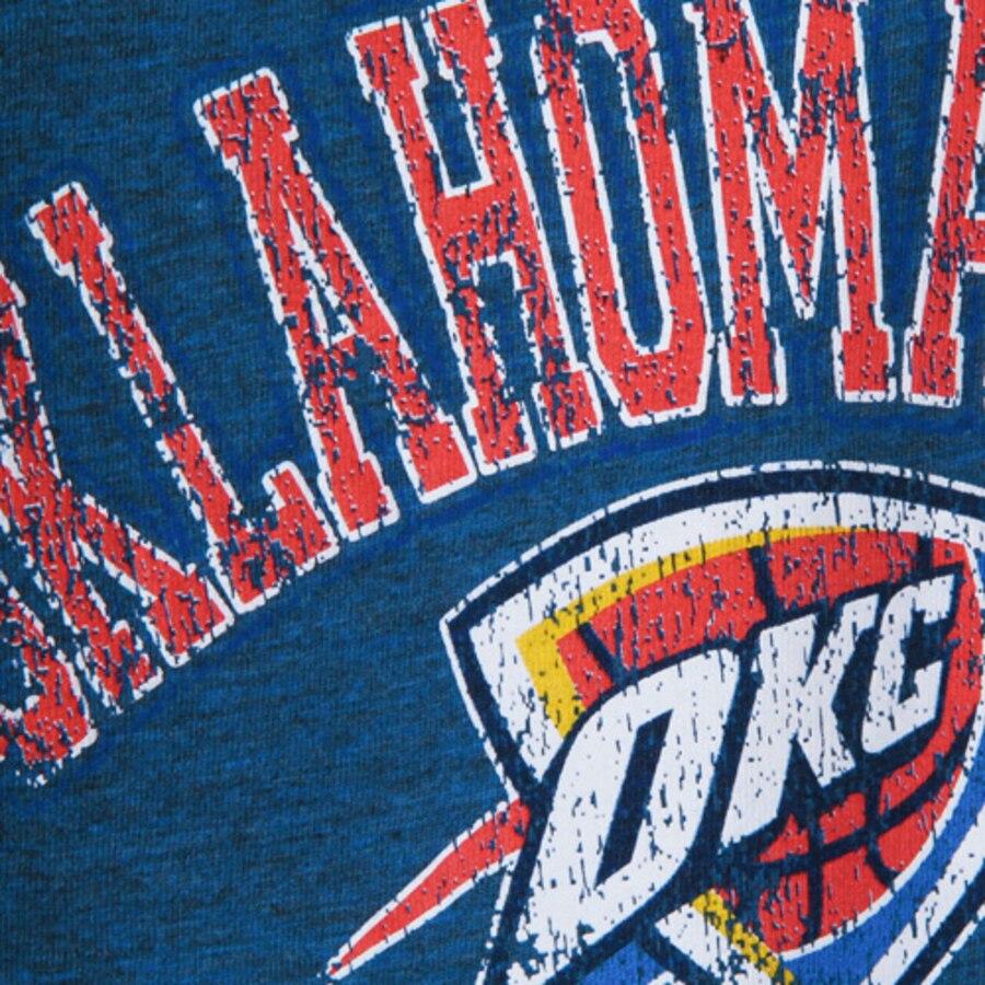 Women\'s Oklahoma City Thunder New Era Royal Distressed Logo Tri.