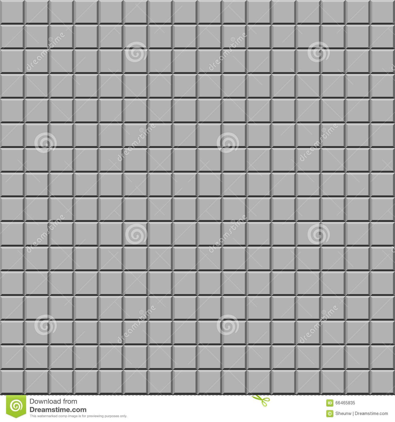 Gray Tile Texture, Vector Seamless Background Stock Vector.