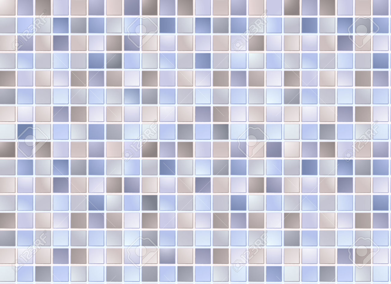 Seamless Blue Square Tiles Pattern Royalty Free Cliparts, Vectors.
