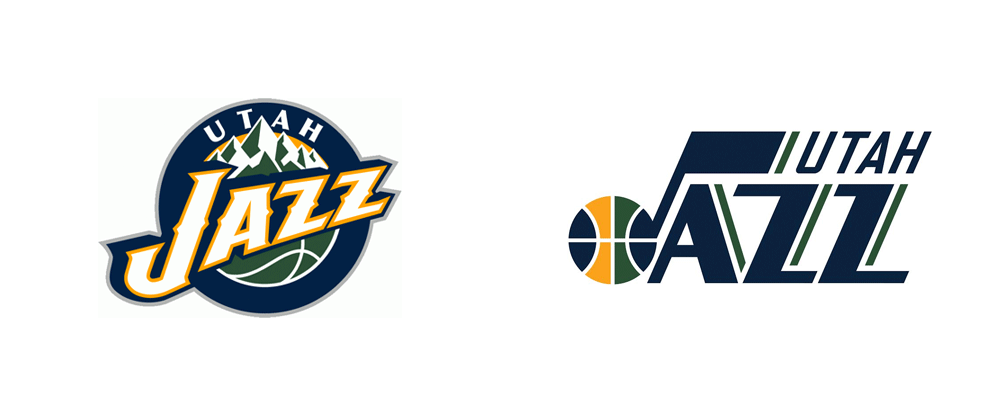 Brand New: New Logos for Utah Jazz done In.