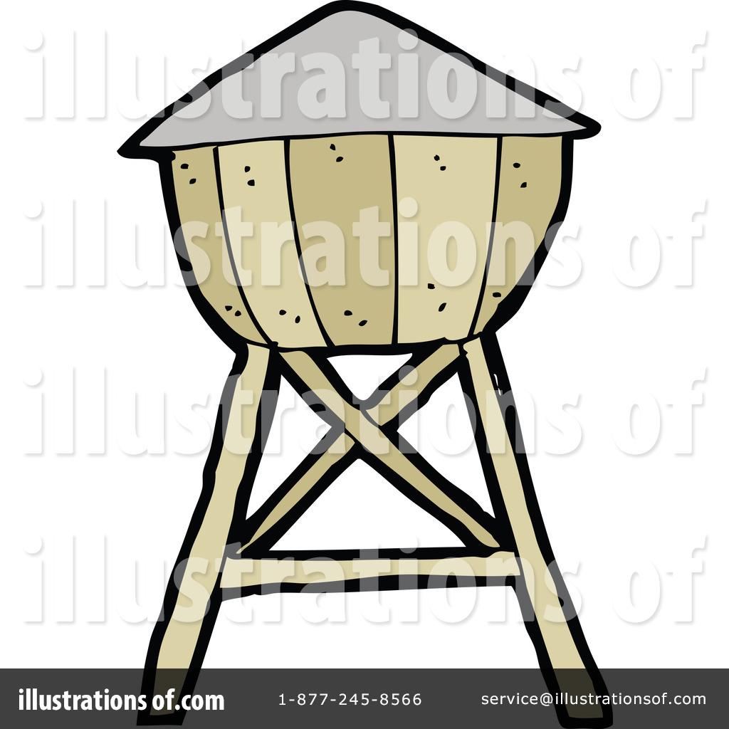 Water towers clipart.