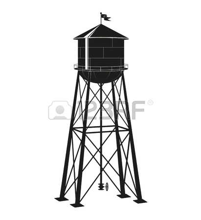 7,756 The Water Tower Stock Vector Illustration And Royalty Free.