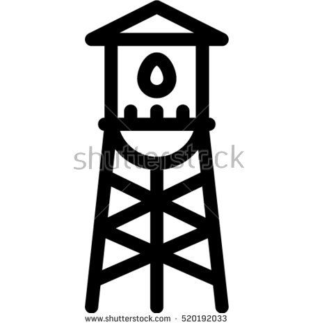 Water Tower Stock Photos, Royalty.