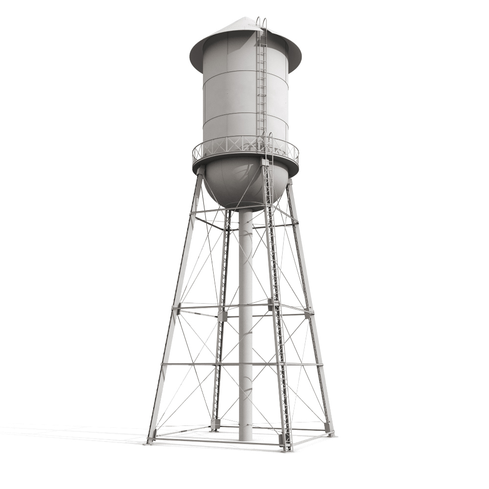 Water Tower Clip Art Outline.