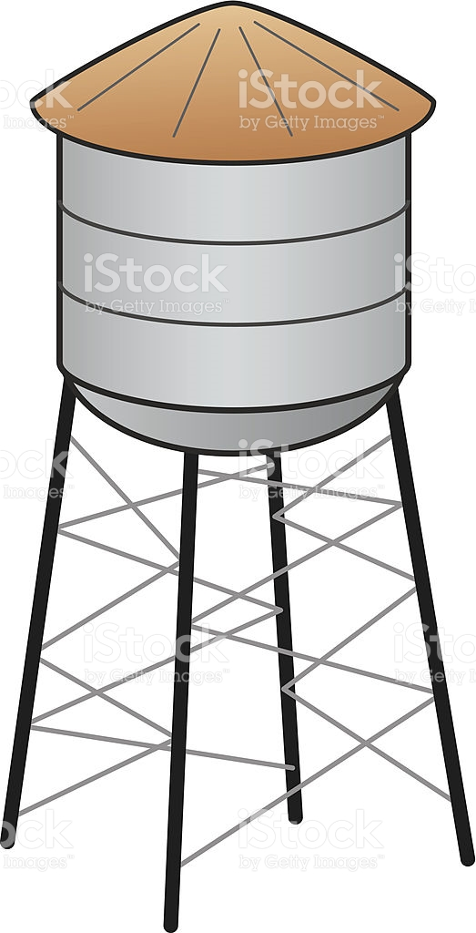 Water Tower stock vector art 187008418.