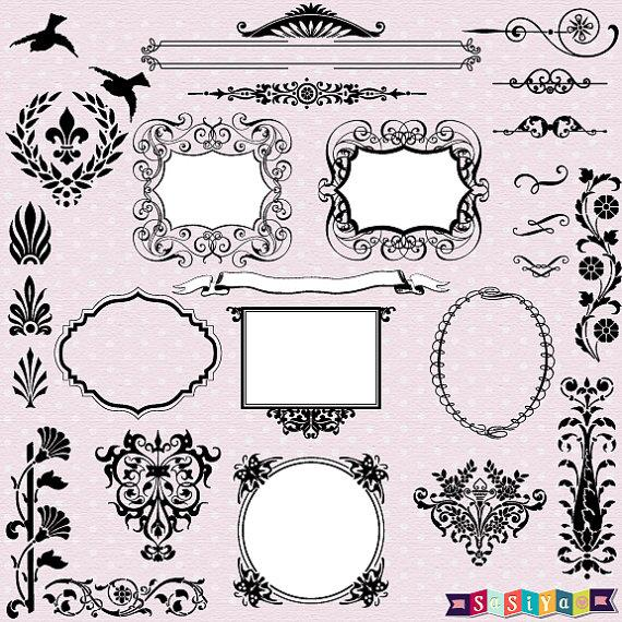 New Design Vintage Ornament Frame Decor Design Elements.