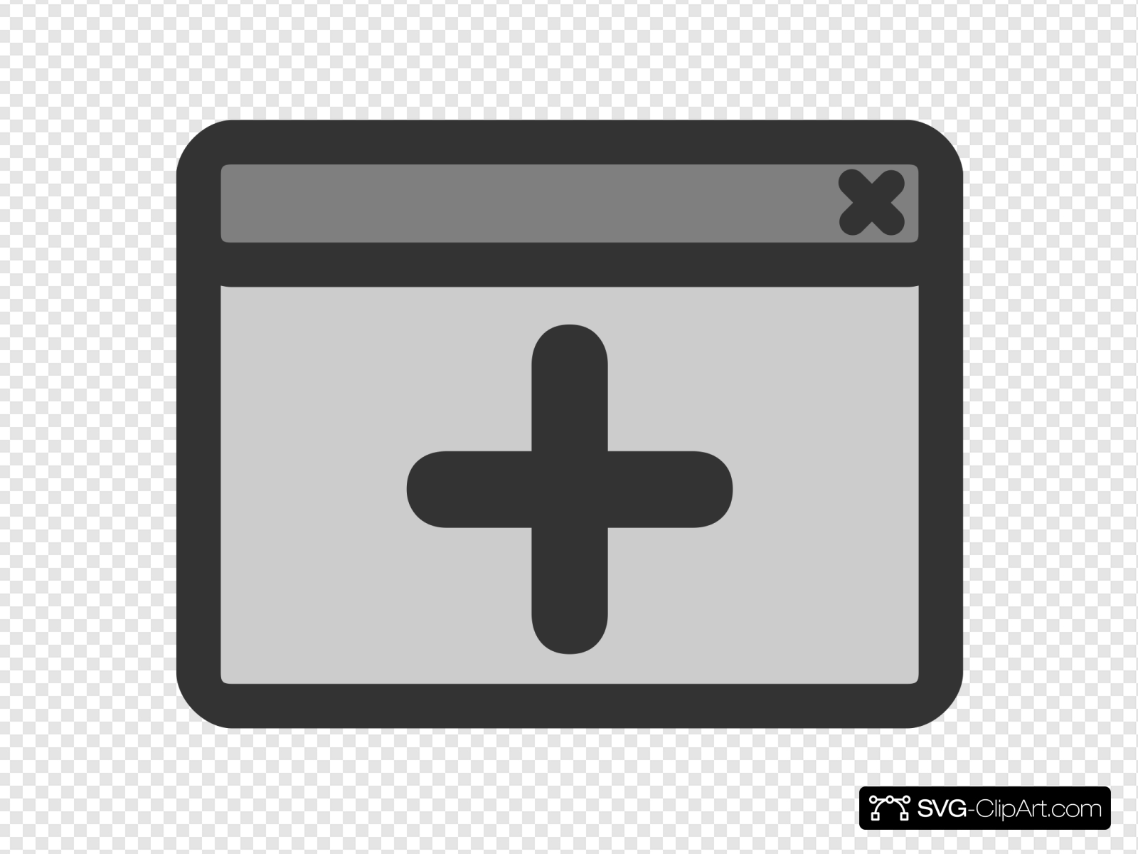 New Window Clip art, Icon and SVG.