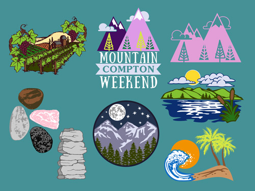 New Nature and Landscape Clip Art & Layout for Custom T.