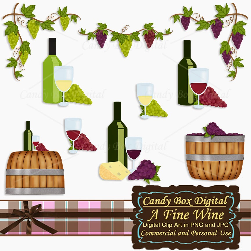 What's in the Candy Box: New Wine and Grape Clip Art!.
