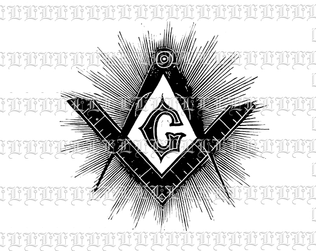 New World Order Masonic Symbol Vintage Clip Art Illustration High.