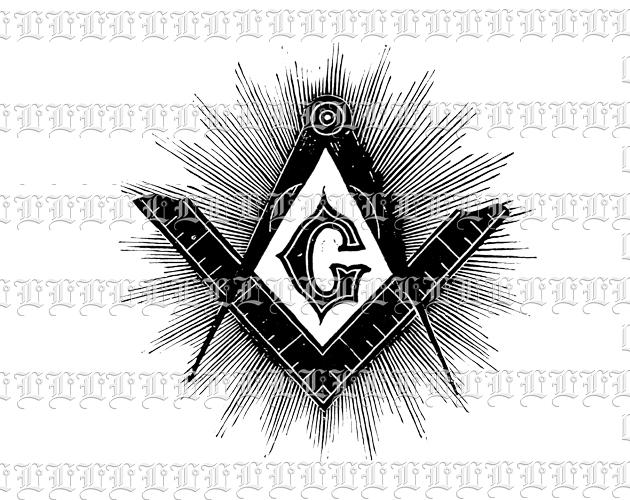 New World Order Masonic Symbol Vintage Clip Art Illustration High.