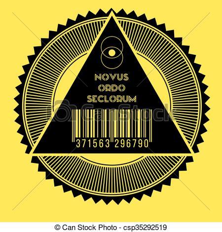 Vector Clip Art of New world order.