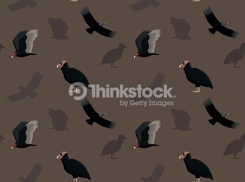 Bird New World Vulture Wallpaper Clipart vectoriel.