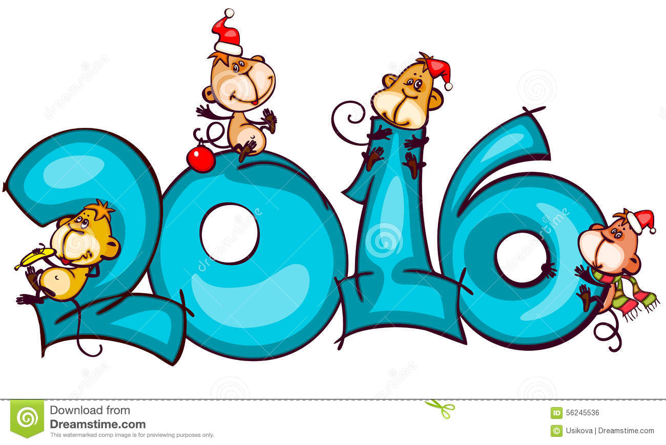 showing post media for year 2016 clip art cartoon stock illustration banner monkey chinese zodiac new