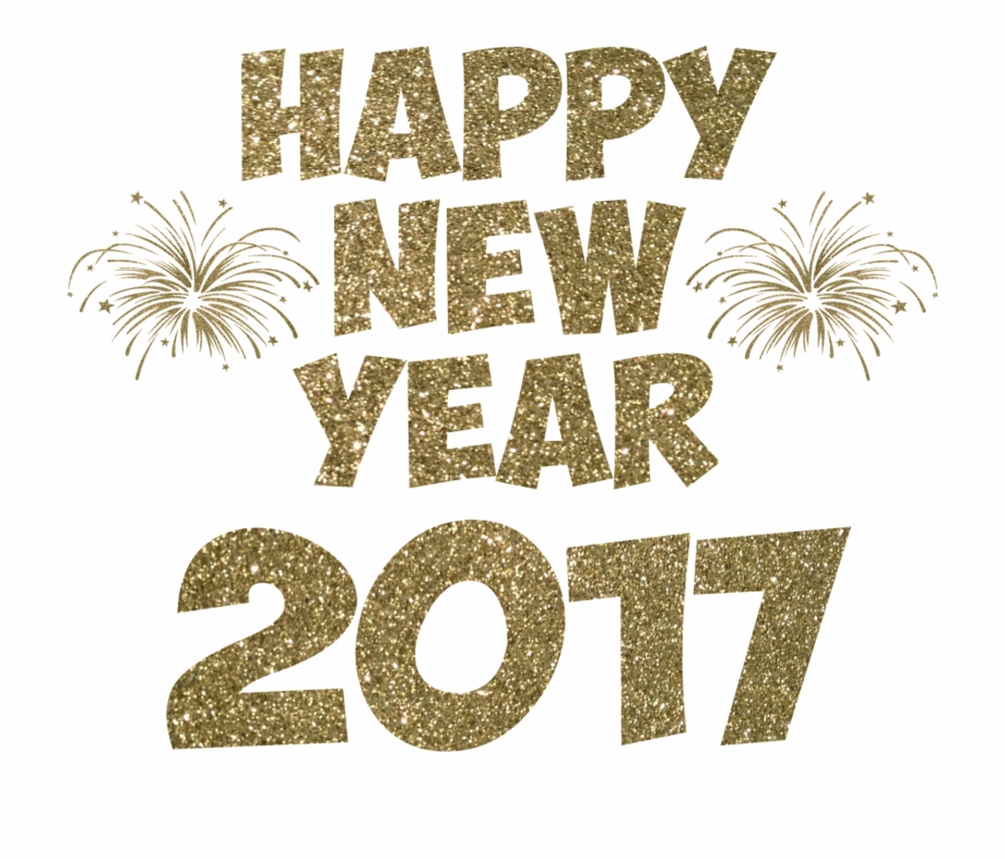 Happy New Year 2017 Transparent Transparent Background.