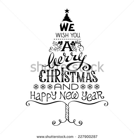Merry Christmas And Happy New Year Clip Art.