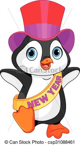 New Year baby penguin.