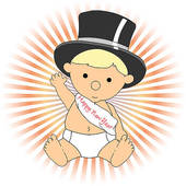 New Year Baby Clip Art.