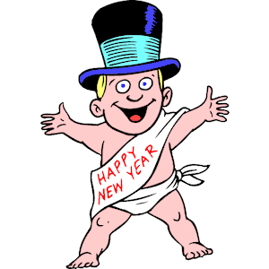 Baby New Year Clipart.