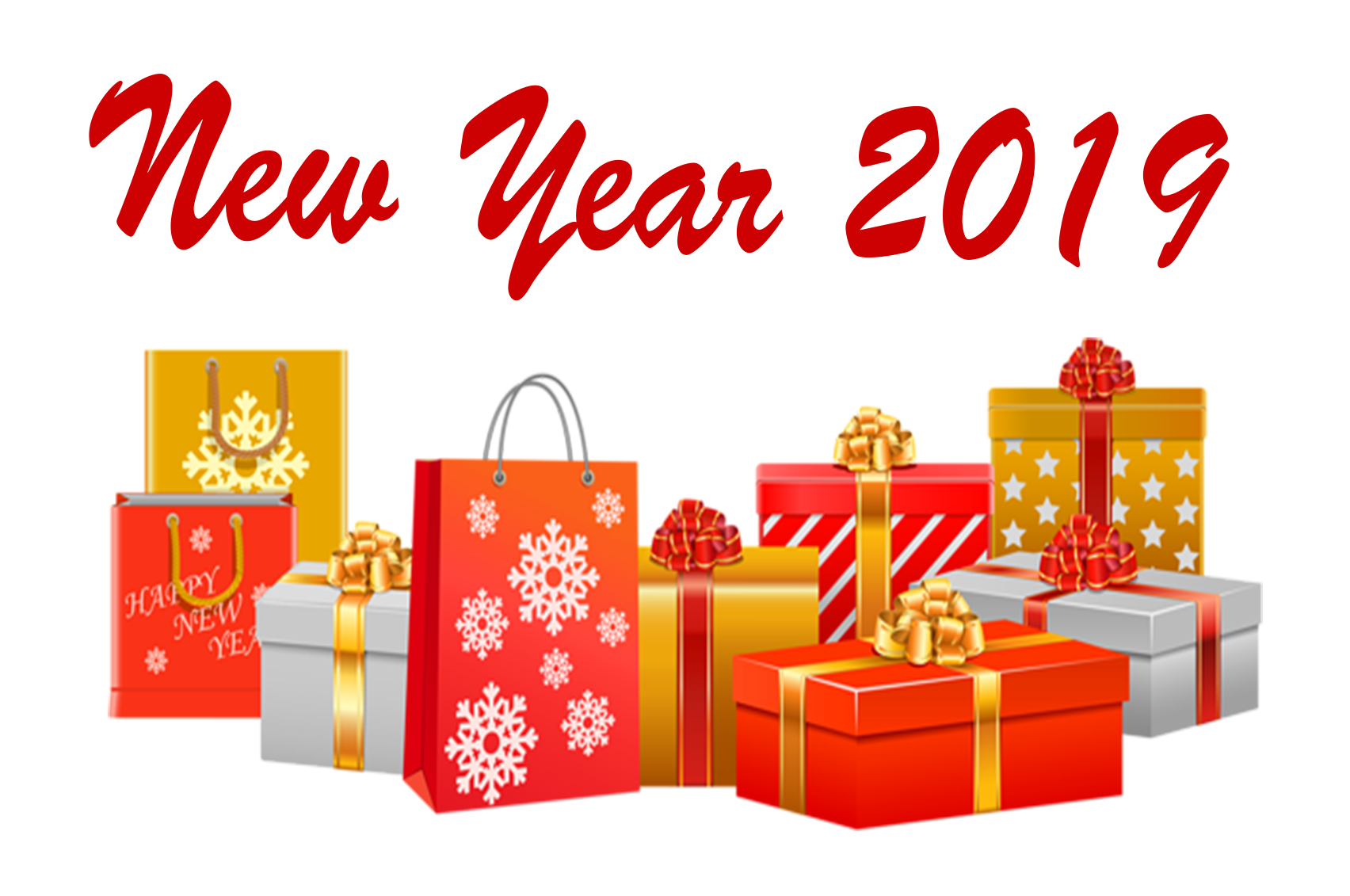 New Year 2019 PNG Free Background.