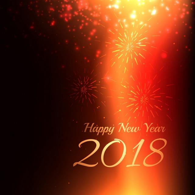 Happy New Year 2018 Background , Light Vector, 2018, New PNG.