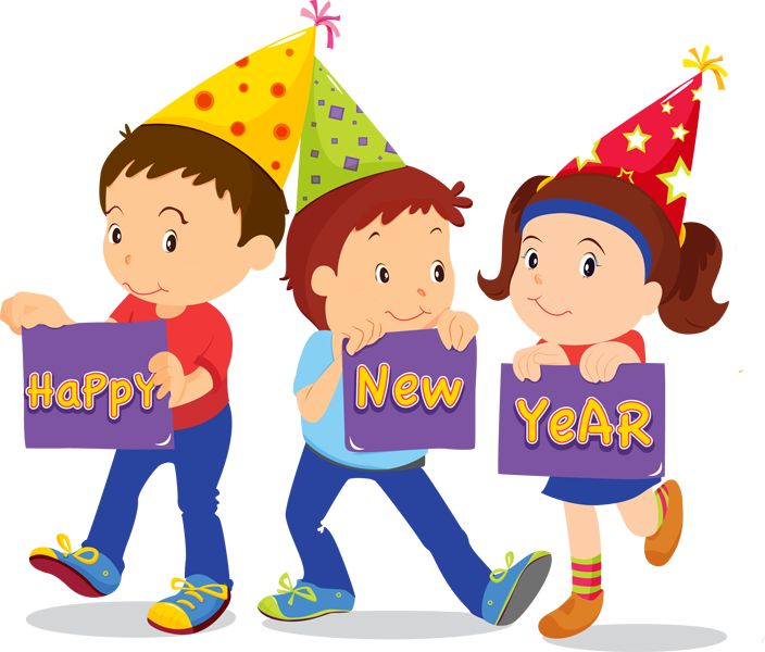 New Year Kids Clipart & Free Clip Art Images #11204.