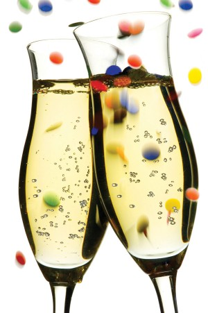 New Years Champagne Glass Clipart.